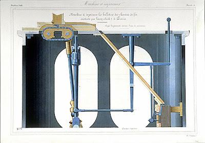 Machine à imprimer  les bulletins de chemin de fer, de Lecoq