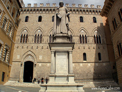 Monte dei Paschi bank in Siena, Italy