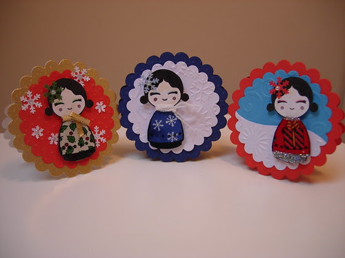 Dolls Mini Christmas Gift Cards