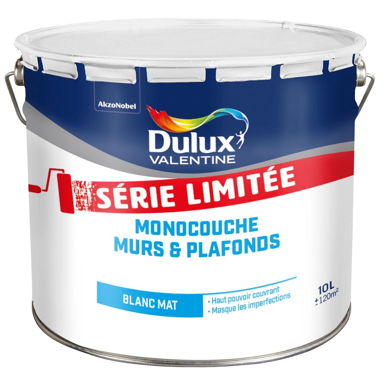 Peinture Blanche Mur Et Plafond Dulux Valentine Mat 10 L Leroy Merlin