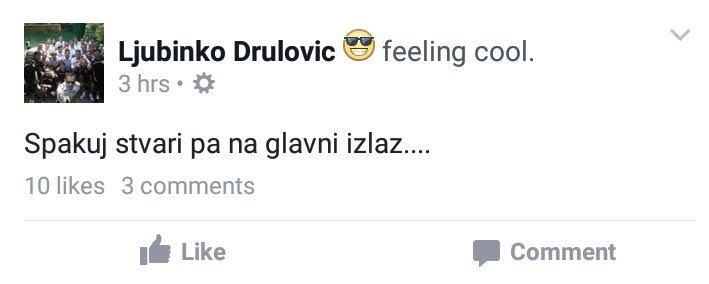Drulovic ostavka