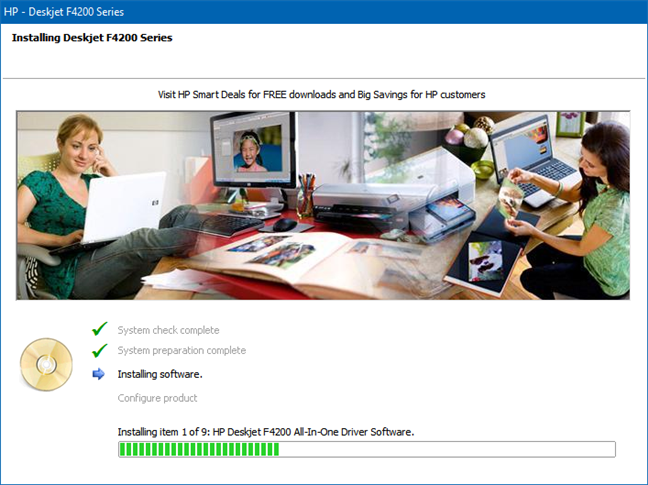 Se está agregando una impresora HP a Windows 10