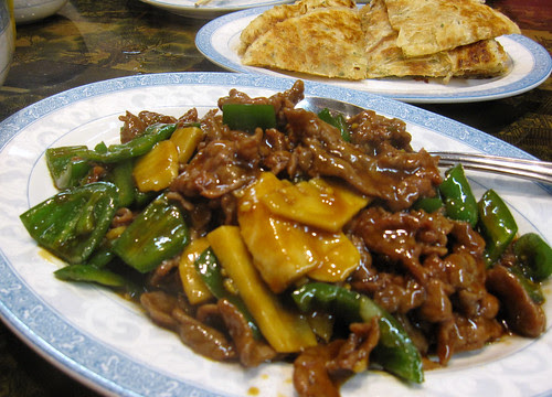 Beef with jalapenos, Tasty Noodle House