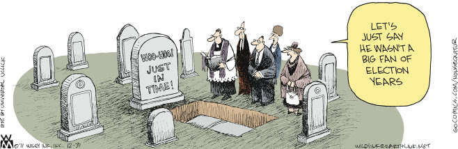 From Wiley Miller's Non Sequitur (December 31, 2011); used w/o permission.