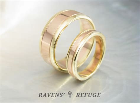 unique wedding bands ? matching two tone rings   Ravens