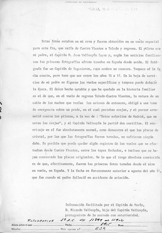 Donación de las fotografías aéreas de Toledo tomadas hacia 1915. Centro Cartográfico y Fotográfico del Ejército del Aire, Ministerio de Defensa