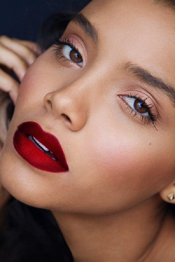 Red lipstick lips