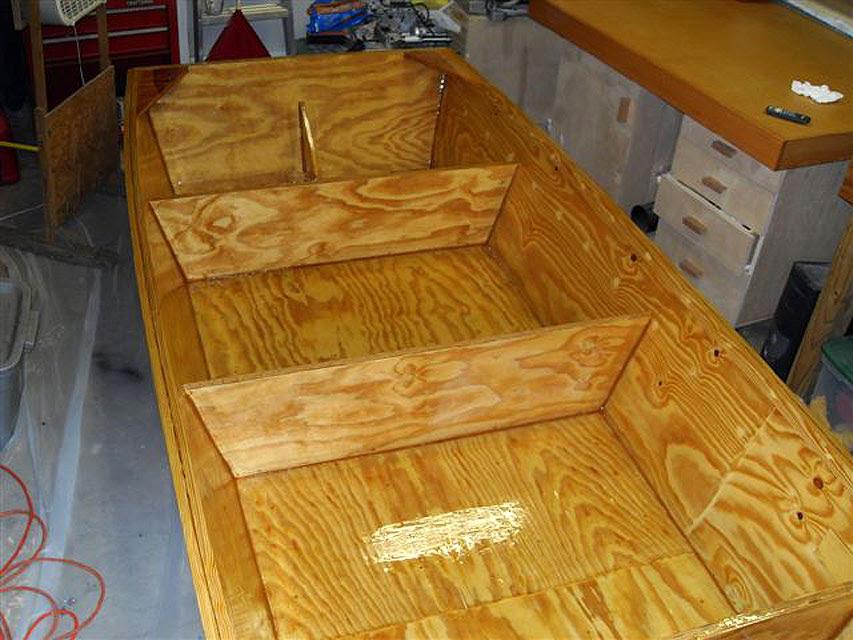 Plywood Boat Interior