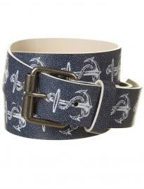 Topman Navy Printed Anchor Belt