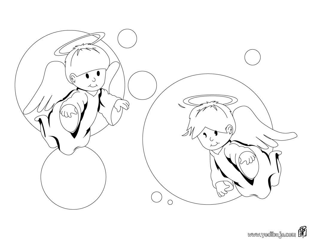 Dibujos Para Colorear Angelitos Eshellokidscom