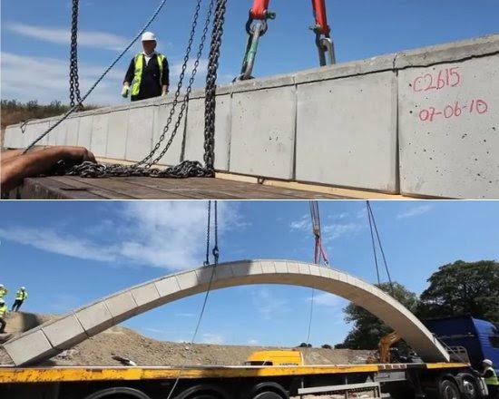Ponte em arco pré-fabricada vai durar 300 anos