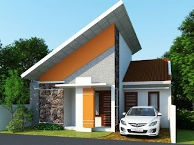 Model Rumah Minimalis Atap Miring Samping