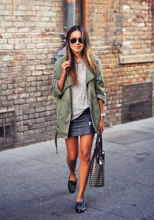 7 Le Fashion Blog 15 Ways To Wear A Green Army Jacket Grey Tee Leather Skirt Studded Loafers Via Sincerely Jules photo 7-Le-Fashion-Blog-15-Ways-To-Wear-A-Green-Army-Jacket-Grey-Tee-Leather-Skirt-Studded-Loafers-Via-Sincerely-Jules.jpg