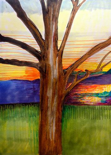 VF winter sunset by Michelle Schamis