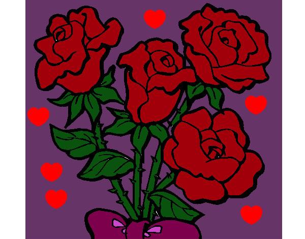Dibujo De Rosas Pintado Por Claudia422 En Dibujosnet El Día 24 06