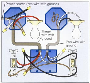 House Wiring Diagram Light Switch - Home Wiring and Electrical Diagram