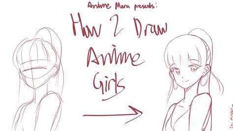 anime marus guide  drawing anime girls anime maru