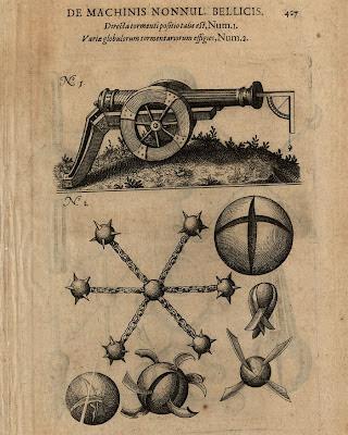 Fludd - Pars VI Liber Quartus p427 cannons/artillery