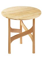 Elegant Accent Table Woodworking Plan - fee plans from WoodworkersWorkshop® Online Store - round tables,furniture,full sized patterns,woodworking plans,woodworkers projects,blueprints,drawings,blueprints,how-to-build