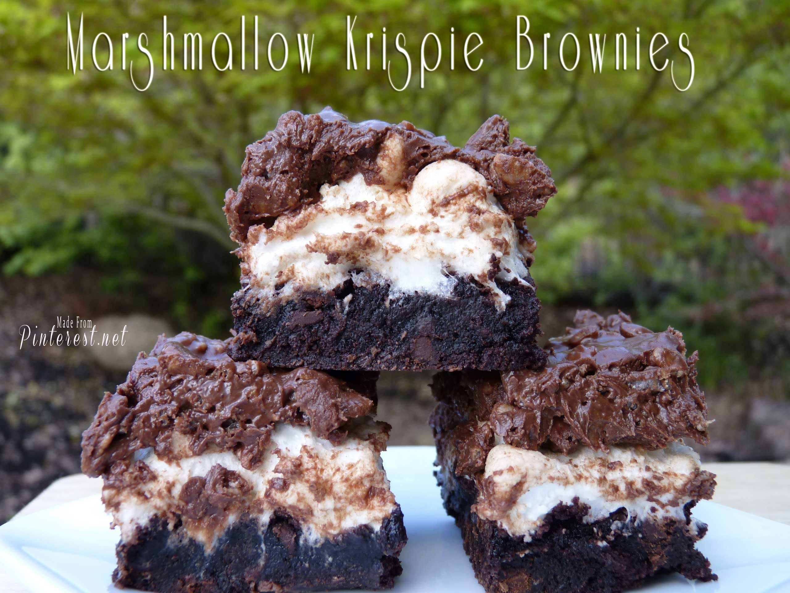 Marshmallow Krispie Brownies - TGIF - This Grandma is Fun