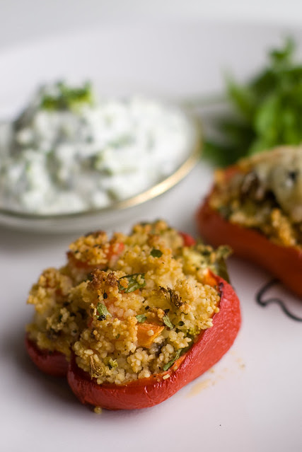 Kuskussiga täidetud paprika / Pepper stuffed with cous cous and broccoli