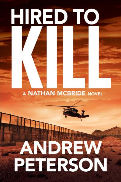 Book Cover for Thriller Hired to Kill by Andrew Peterson