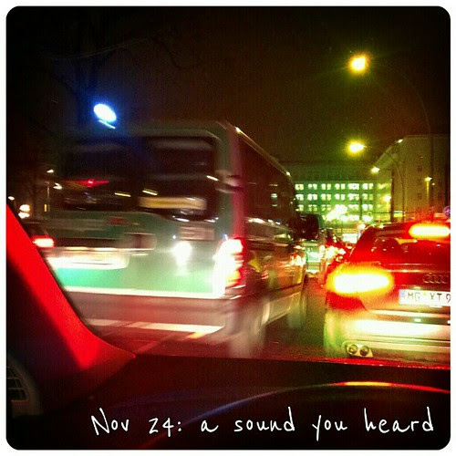 Nov 24: a sound you heard - #police cars #fmsphotoaday #Berlin #friedrichshain