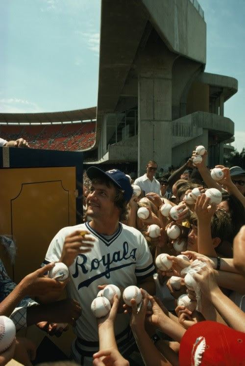 1976 George Brett photo by Ted Spiegel/NG