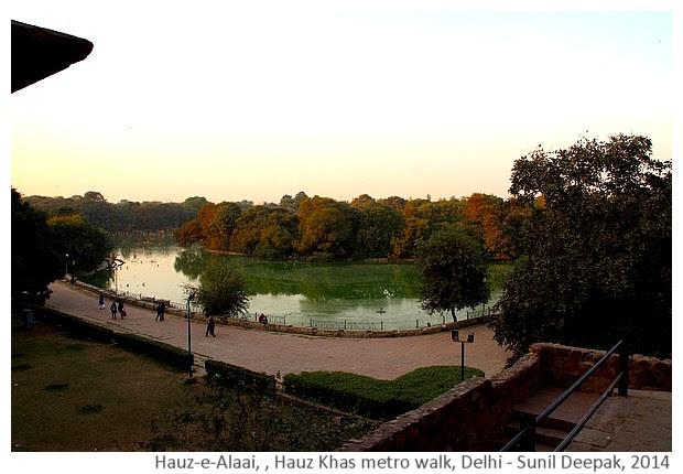History & monuments of Delhi around Hauz Khas, India - Images by Sunil Deepak, 2014