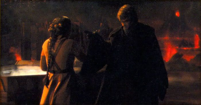 Anakin Force-chokes Padme in REVENGE OF THE SITH.