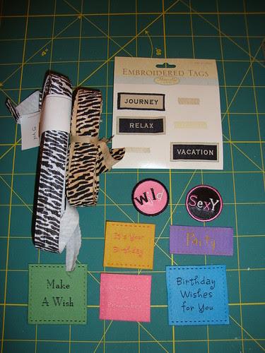 materials...labels...