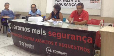Bancários decidiram aderir à mobilização após assembleia realizada nesta terça-feira / Foto: Sindicato dos Bancários/ Divulgação