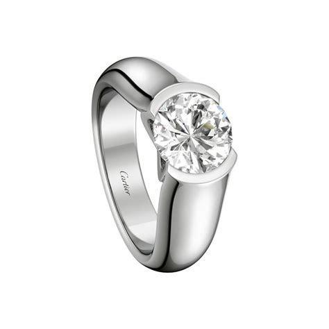 C de Cartier solitaire   Engagement Rings Platinum