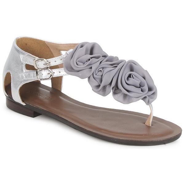 Cristofoli Silver Flower Sandals Spartoo