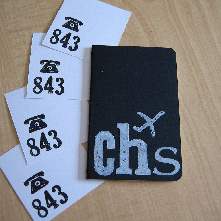 Charleston, SC - Black Jet Set Journal and 4 Area Code Notes