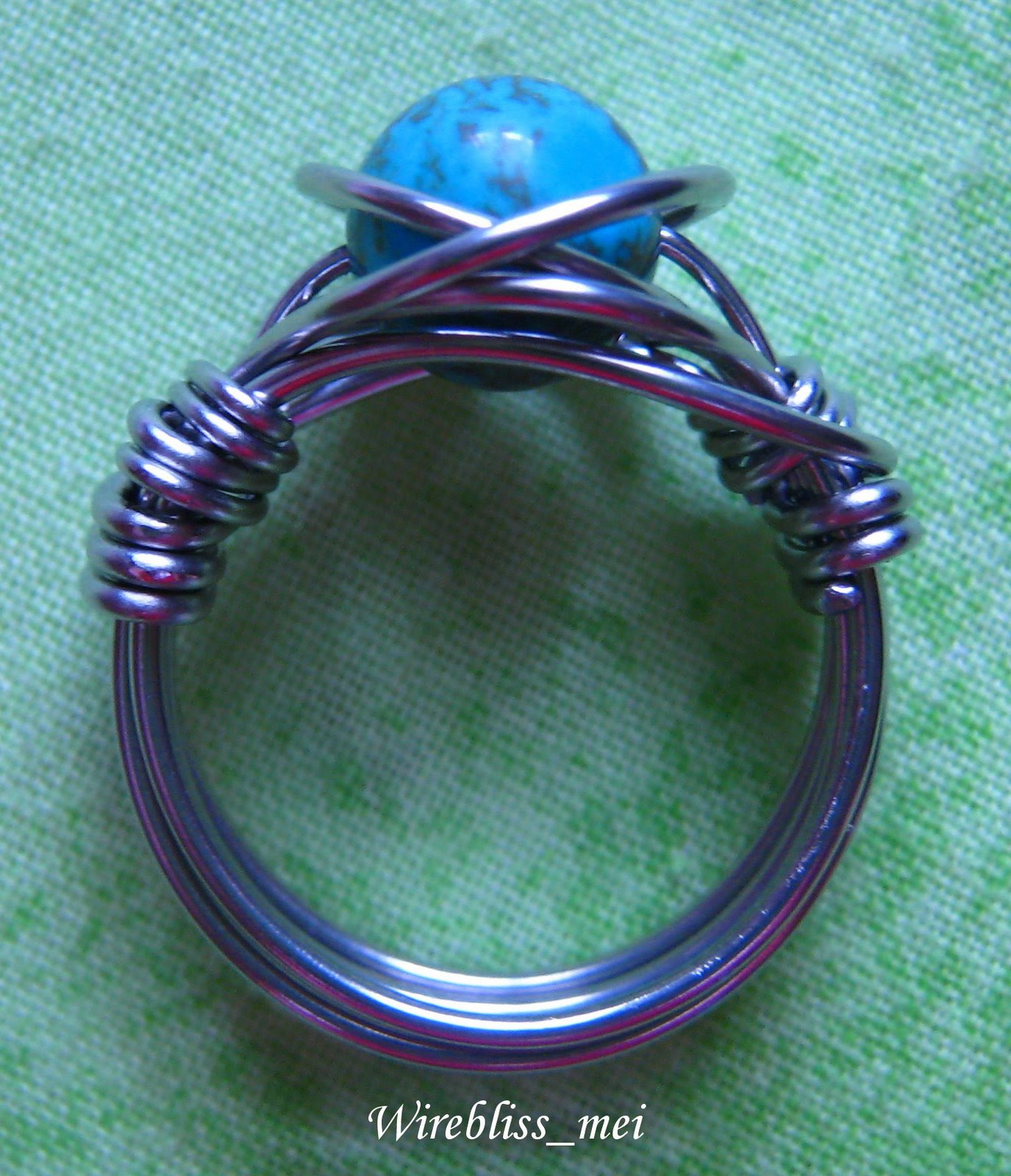 twice around the world (TAW) wire wrap ring