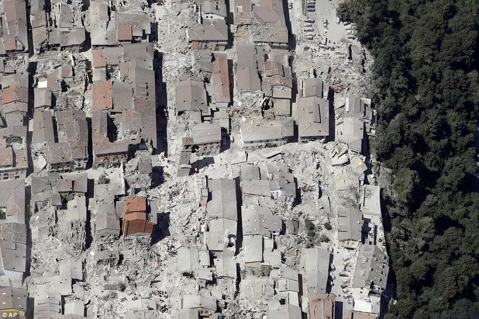 Dante's Inferno: Agostino Severo, a Rome resident on holiday, described Amatrice as looking like 'Dante's Inferno'. 'People crying for help, help. Rescue workers arrived after one hour... one and a half hours,' he said