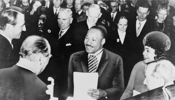 Photo: Martin Luther King Receives Nobel Peace Prize, Coretta King (right)