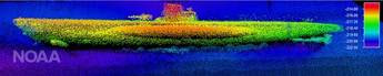 File Sonar image of the German submarine U-576. (Credit: NOAA & SRI International)
