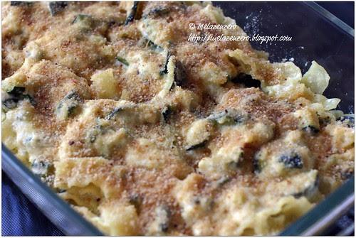 pasta zucchine ricotta bechamel