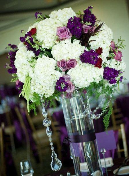 purple wedding centerpieces   Flower arrangements for the