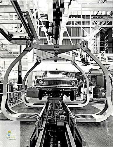 Falcon assembly line, Ford St. Thomas Assembly Plant, 1968
