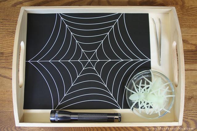 Glow-in-the-Dark Spider Practical Life Activity