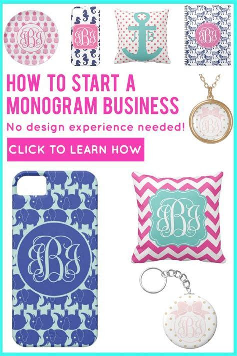 Learn how to start your own #monogram business with no