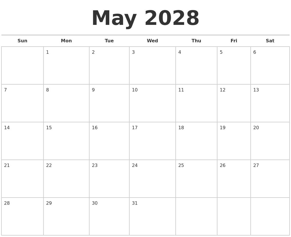 may 2028 calendars free