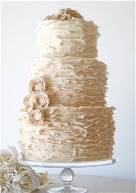 Two Tiered Square Wedding Cakes Without Fondant Modern