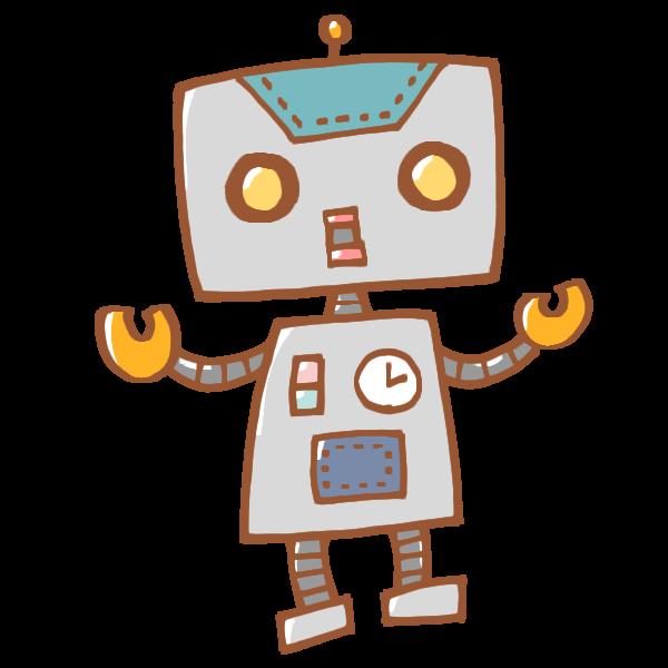 ロボットのイラスト かわいいフリー素材が無料のイラストレイン