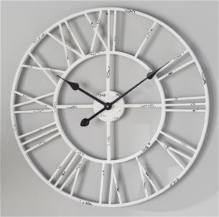 Big Size Distressed Metal Roman Decorate White Wall Clock Buy White Wall Clock White Clock Wall Clock White Product On Alibaba Com