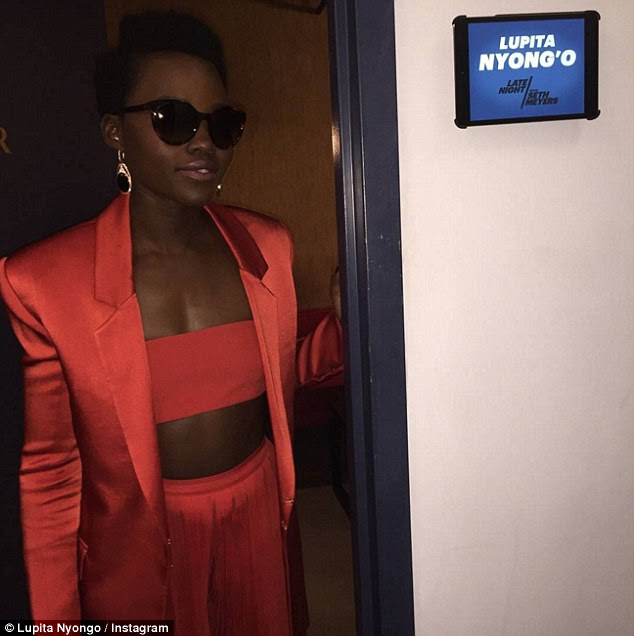 Ready to go: She shared a snap backstage outside her dressing room, with dark glasses sealing her A-List status