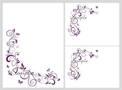 Floral Blank Wedding Invitation Templates   Wedding and bridal
